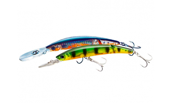 YO-ZURI # HARD LURES CRYSTAL 3D MINNOW DEEP DIVER JOINTED
